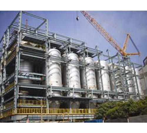 Dry pulse bag filter for blast furnace gas